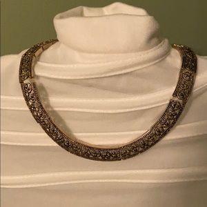 NWT Gold & Black Filigree Necklace